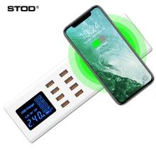 STOD Qi caricabatterie Wireless 40W stazione di ricarica USB 2.4A per iPhone 8 X Samsung S9 Huawei Nexus Mi Oneplus adattatore di alimentazione ca