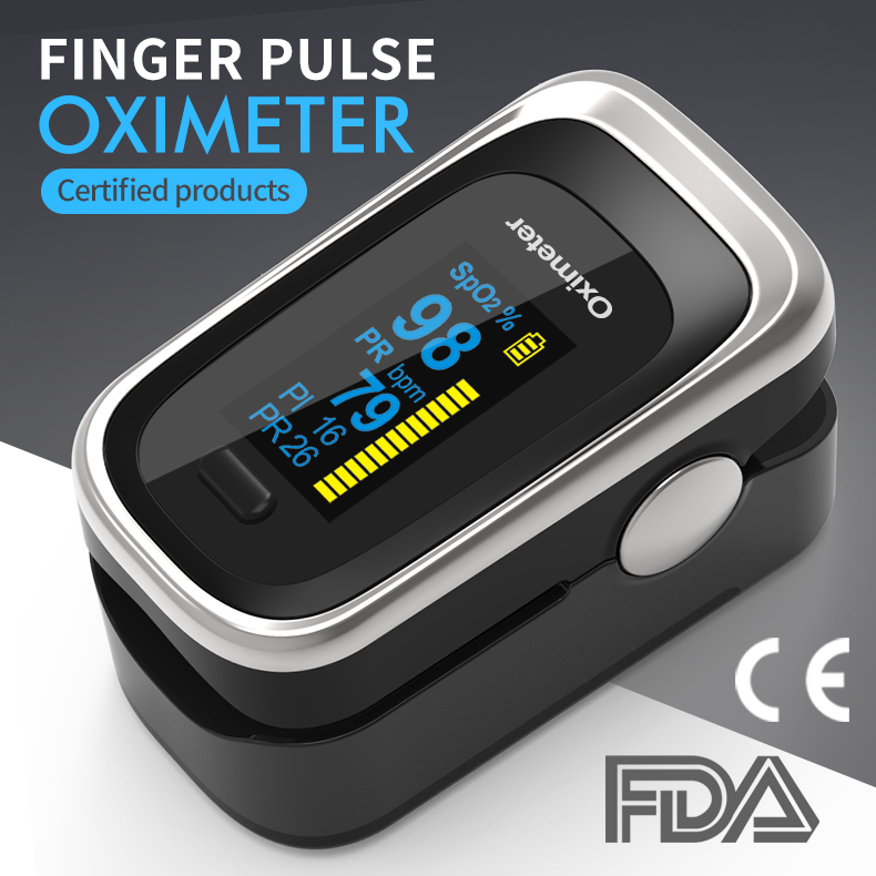 Portable Fingertip Pulse Oximeter With Easy-to-read Color Display Support Automatic Switch-off For Household Use