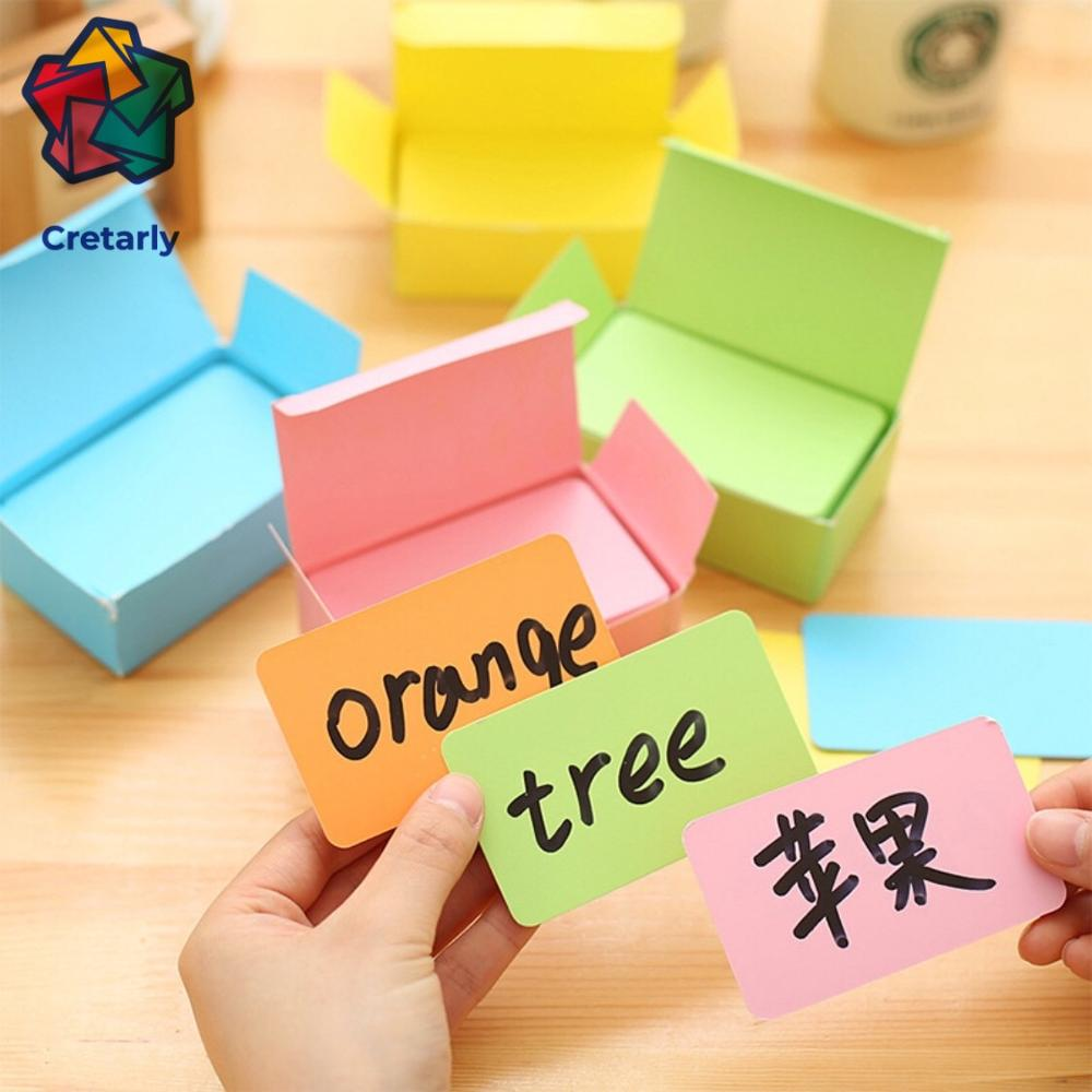 90pcs/lot Pure Color Cards Creative Mini Kawaii Memo Pads Kraft Paper DIY Multi-function Note Message Card Gift Postcards