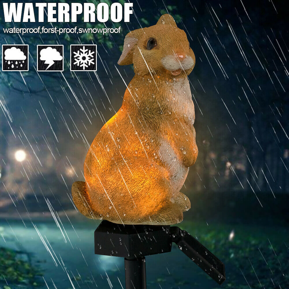 Solar Powered Rabbit Bunny LED Light Solar Light Outdoors Waterproof Energy-Saving LED Lamp For Home Garden Luz Solar S7 #5