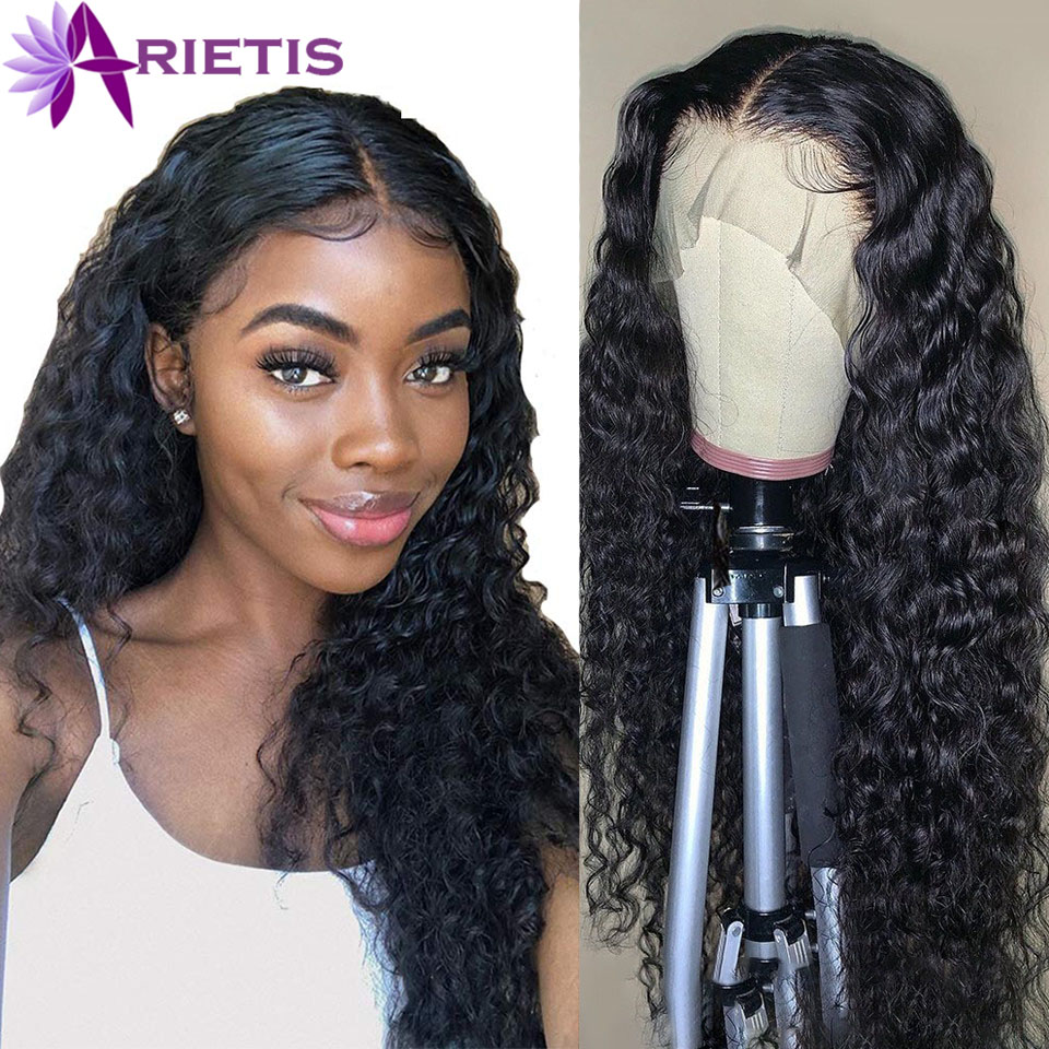 360 Lace Frontal Wig Water Wave Lace Front Human Hair Wigs Pre-pluck With Baby Hair For Black Women Arietis Remy Brazilian Hair
