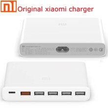 الأصلي شاومي Mi USB 60 واط شاحن نوع C 60 واط شاحن USB A 6 منافذ الإخراج المزدوج QC 3.0 شاحن سريع 18 واط x 2 24 واط (5 فولت = 2.4A ماكس)