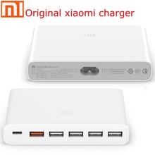 Xiaomi cargador USB tipo C Original, 60W, 6 puertos de salida, cargador rápido Dual QC 3,0 18w x 2 24W (5V = 2.4A MAX), USB A