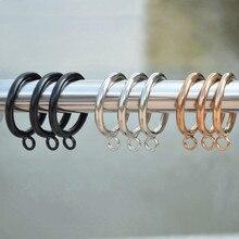Curtain-Hooks Hanging-Ring Window-Accessories Metal Home-Decor 20pcs/Set Gold Black 28mm