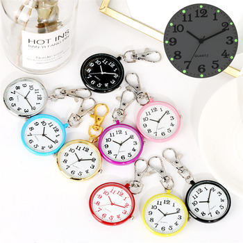 Luminous Display Keychain Nurse Pocket Watches Arabic Numerals Pendant Clock Gifts for Doctor - discount item  31% OFF Pocket & Fob Watches
