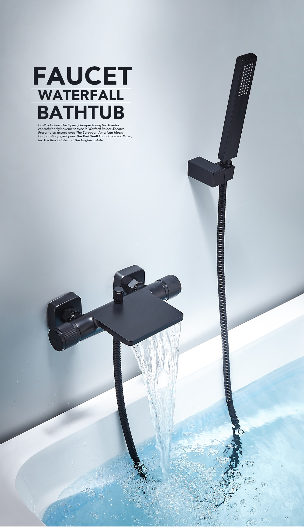 H5c531b0a7e8f426186253aebde4567a2d Bathtub Shower Faucet Mixer Solid Brass Black Wall Mount Shower Faucet With Hand Shower Bathroom Waterfall Bathub Faucet WB1620