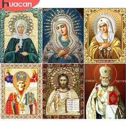 HUACAN Diamond Painting Cross Stitch Icon Religion Full Square Diamond Mosaic Madonna DIY Pharaoh Of Rhinestone Decoration Home