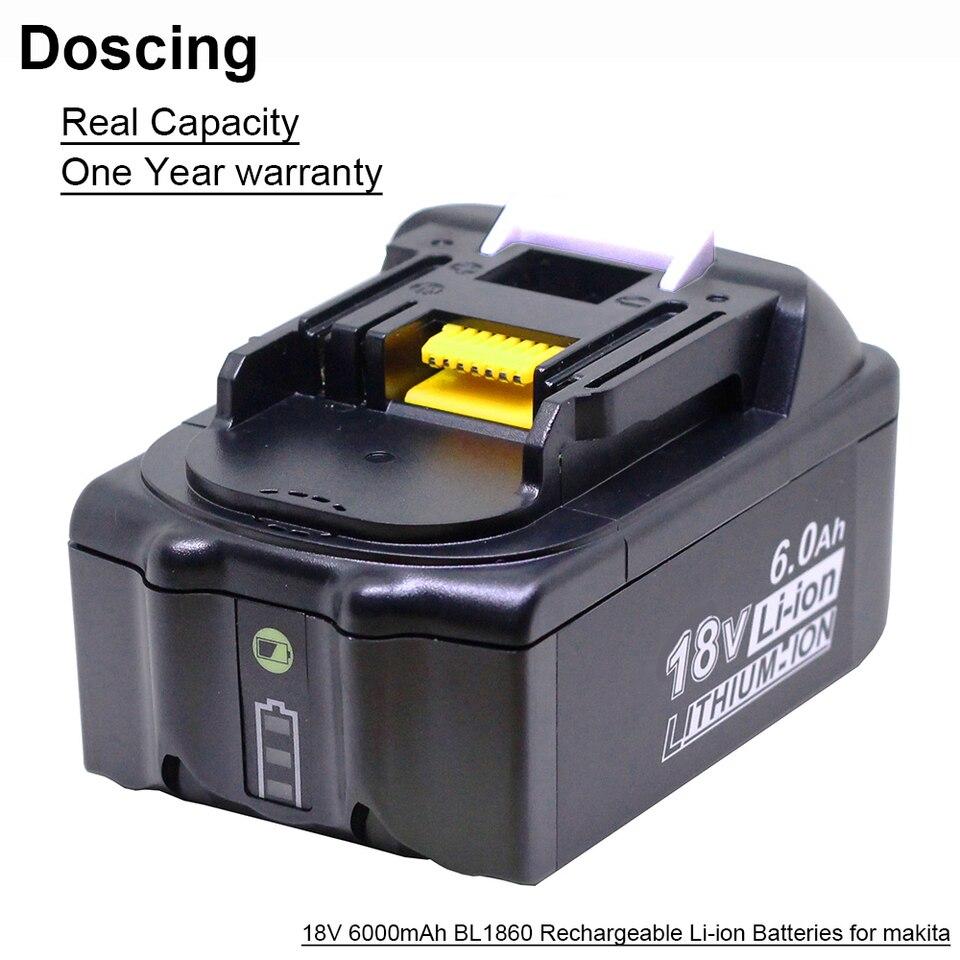 2 Pack BL1860B 5500mAh Reemplazo para Bater/ía Makita 18V BL1850 BL1860 BL1840 BL1830 BL1815 BL1835 BL1845 LXT-400 Herramientas el/éctricas inal/ámbricas con indicador