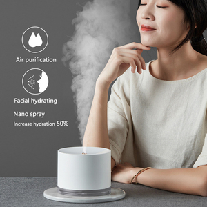 Image 2 - Rechargeable Usb Portable Air Humidifier Wireless Electric Humidifiers Diffuser Cool Mist Maker Night Lamp Purification For Home