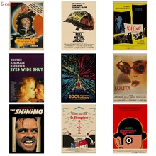 Kubrick Director Series Movie / Clockwork Orange 2001 Space Roaming Poster Kraft Paper Retro