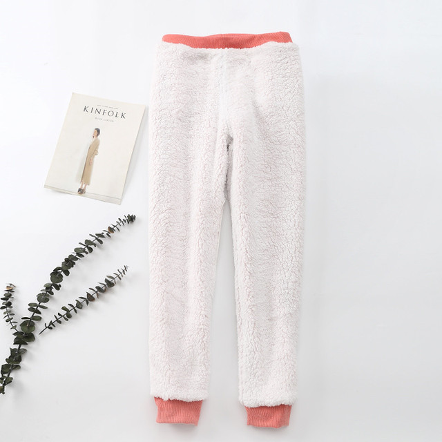 Winter Cashmere Harem Warm Pants Women 2020 Causal trousers Women Warm Thick Lambskin Cashmere Pants Women Loose Pant 4