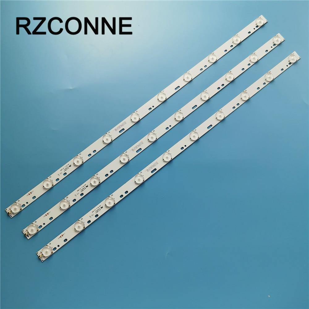 100pcs 32'' 570mm*17mm 10leds LED Backlight Lamps LED Strips W/ Optical Lens Fliter For TV Monitor Panel 30V New