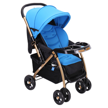 Portable foldable baby stroller can sit and lie on baby stroller travel stroller Neonatal cart baby stroller 3 in 1