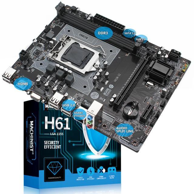 MACHINIST H61 PCI-Ex16 profesional SATA2.0 USB2.0 accesorios M-ATX VGA HDMI DVI puerto de doble canal LGA1155 placa base de escritorio
