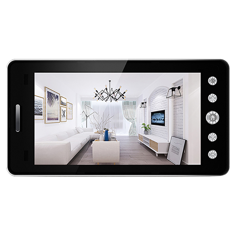5 Inch Screen Wireless Doorbell Ip Camera 5000Mah 160 Degree Peephole With App Control Night-Vision Pir Motion Sensor