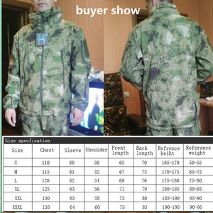 Image 5 - Military Tactical Jacket coat mens autumn Army Camouflage Waterproof jacket SoftShell man Windbreaker  Hooded Camo Hunt Clothes