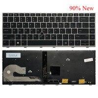 Novo teclado do portátil dos eua para hp elitebook 840 g5 846 g5 745 g5 com ponto do mouse L14378-001 L11307-001