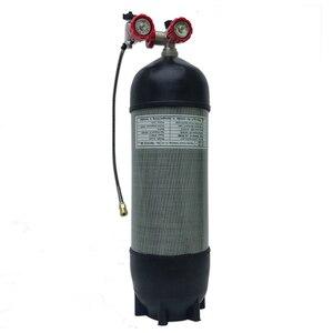 Image 5 - Acecare 9L CE Pcp HPA Tank 4500psi Carbon Gas Zylinder für Tauchen Druckluft Tank Luftgewehr Pcp Condor ventil M18 * 1,5