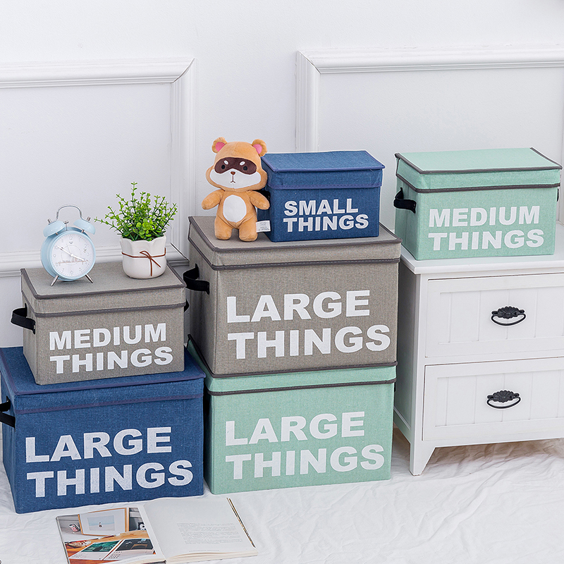 2019 New Cube Folding Non-woven Fabric Storage Box Bins Cloth Storage Basket Bins For Toys Organizer Containers Drawers
