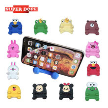Silicone cute popsocket for phone holder stand for phone mobile holder cellphone popsoket for mobile phones car Holder Cartoon(China)
