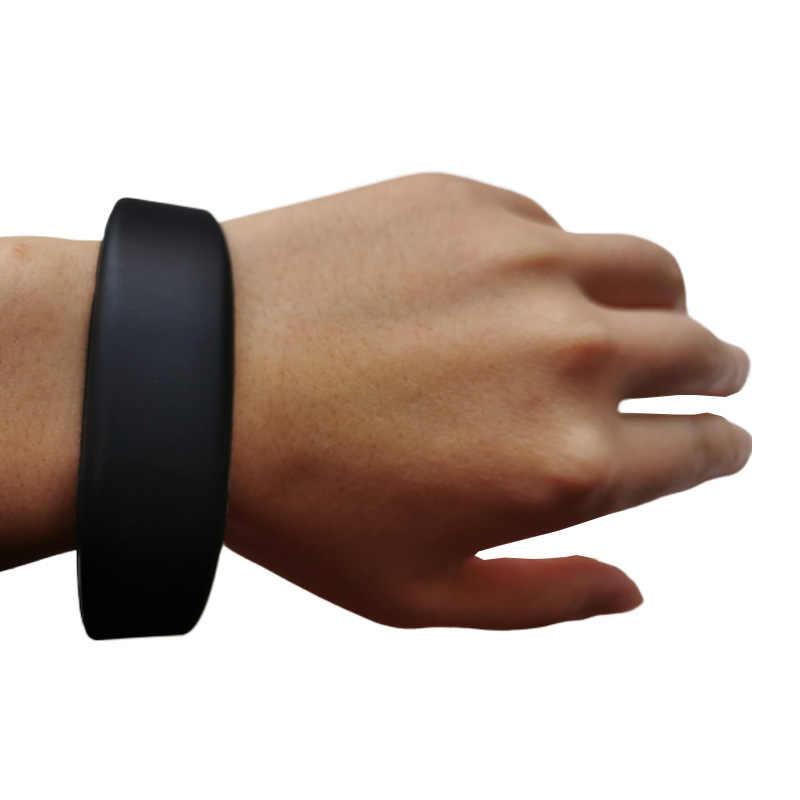 Pulsera de silicona RFID de 13,56 MHZ, banda para muñeca NFC con etiqueta resistente al agua MF S50 1K, Control de acceso de puerta con Control IC