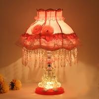 عكس الضوء LED غرفة نوم الكريستال الجدول مصباح مصابيح بجانب السرير ديكور المنزل الحديث اللطخة الزجاج مفتاح الإضاءة مصابيح طاولة لغرفة المعيشة