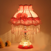 Pode ser escurecido led quarto lâmpada de mesa cristal lâmpada cama moderna casa decoração mancha vidro interruptor luz lâmpadas mesa para sala estar|Luminárias de mesa| |  -