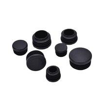 10 шт.% 2 флота пластик мебель ножка заглушка черный круглый сталь труба конец заглушки вставка заглушки 16-32 мм декоративные пыль крышка защита