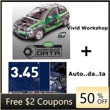 Software de reparação de automóveis vívido oficina de dados .. dados 3.45 software automotivo manual elétrico vívido cd/download link/u disco