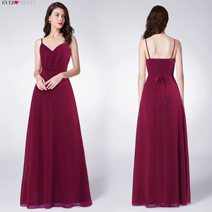 Image 3 - Sexy Burgundy Evening Dresses Long Ever Pretty Beaded Mermaid Double V Neck Side Split Formal Evening Gowns Robe De Soiree 2020
