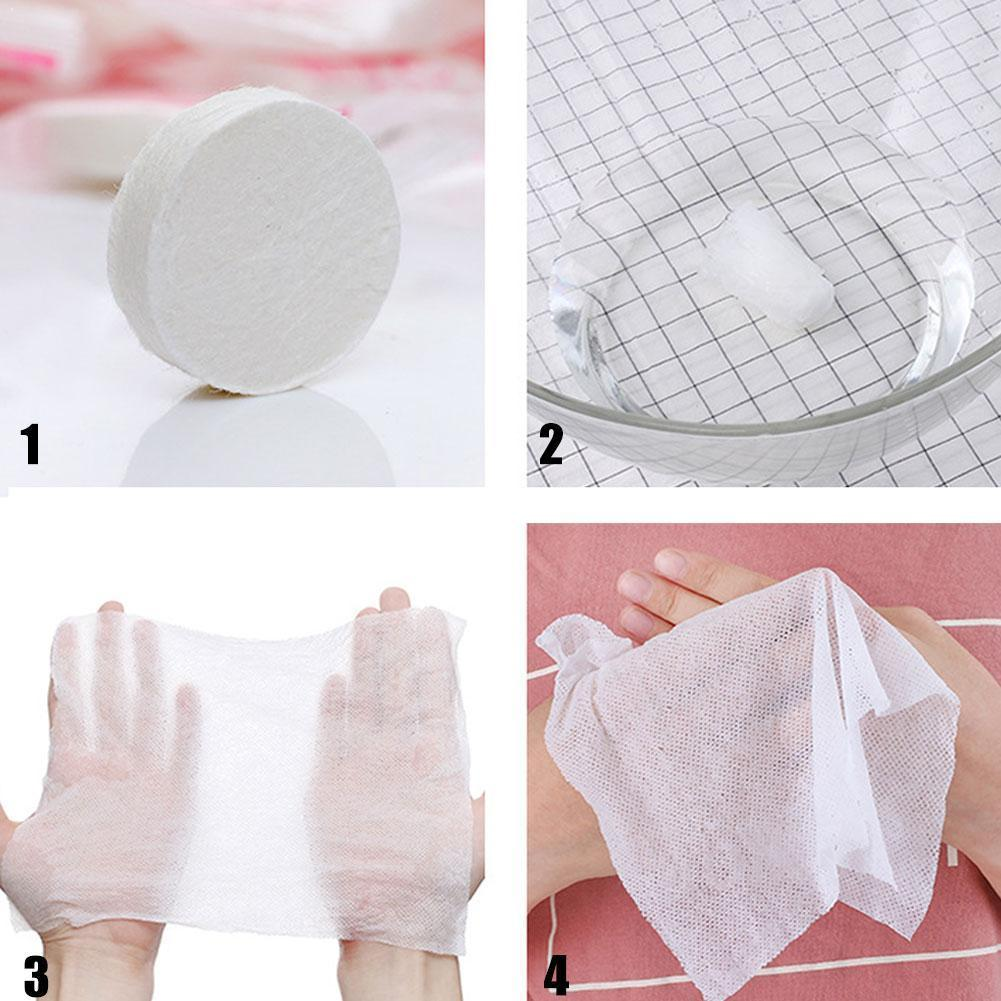 50pcs/lot Magic Tissue Disposable Mini Portable Hand Compressed Face Towel Care Cleaner Travel Cotton For Outdoor D7H3