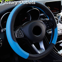 Car Steering Wheel Covers 37 38cm Universal PU Leather Steering wheel Cover Automobiles Anti slip Four Seasons Auto Accessories
