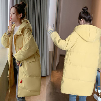 Hooded Ladies Coat Long Parkas Oversize Winter Jacket Women Mid-long Thick Down