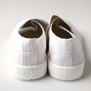 Image 2 - Anti Static รองเท้าเพื่อความปลอดภัยรองเท้าผ้าใบสีฟ้าแรงงาน Work Shop ทำความสะอาดฝุ่น ฟรี Purification