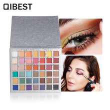 Qibest New Shimmer Eyeshadow 42 Colors Makeup Palette Matte Glitter Eyeshadow Palette Make Up Set 2018 new glitter eyeshadow palette shimmer pigment 120 colors matte eye make up palette of shadow nude eyeshadow set cosmetic