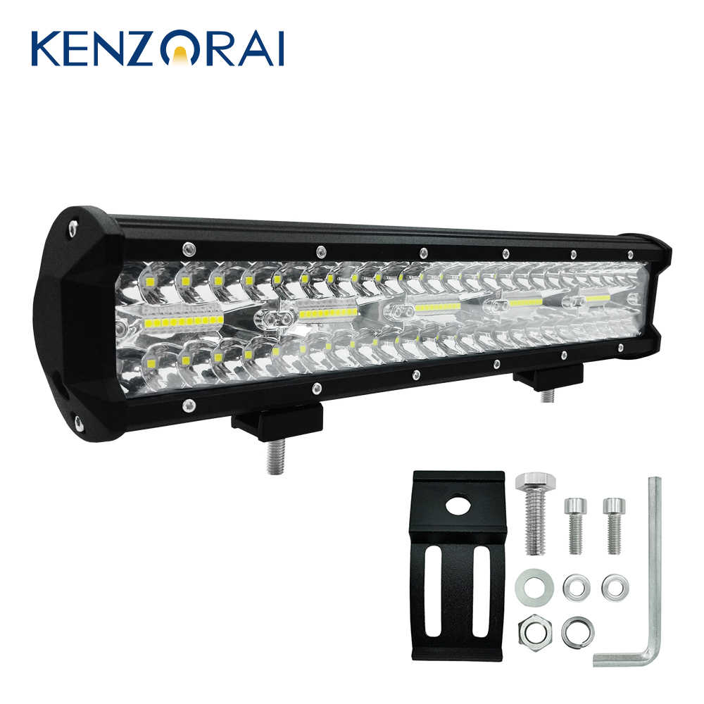 15 inch 300W 30000LM offroad led bar Waterproof  Combo Beam Led Work Light Bar for Truck Car SUV Boat 12V Durable Hot car lights