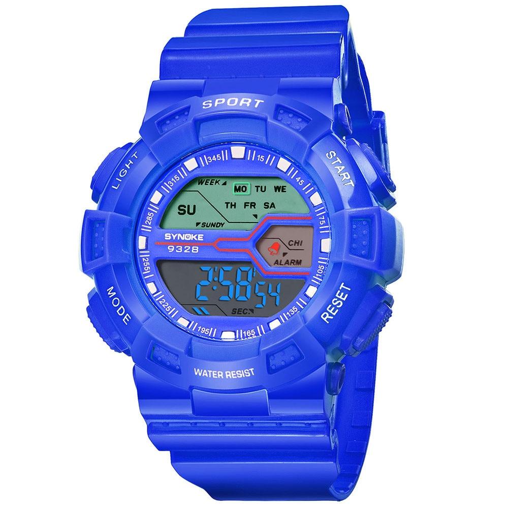 Children's Watch Boy Student Waterproof Sports Watch LED Smart Digital Date Hand Hot Sale Christmas Gift Watch умные часы для 03