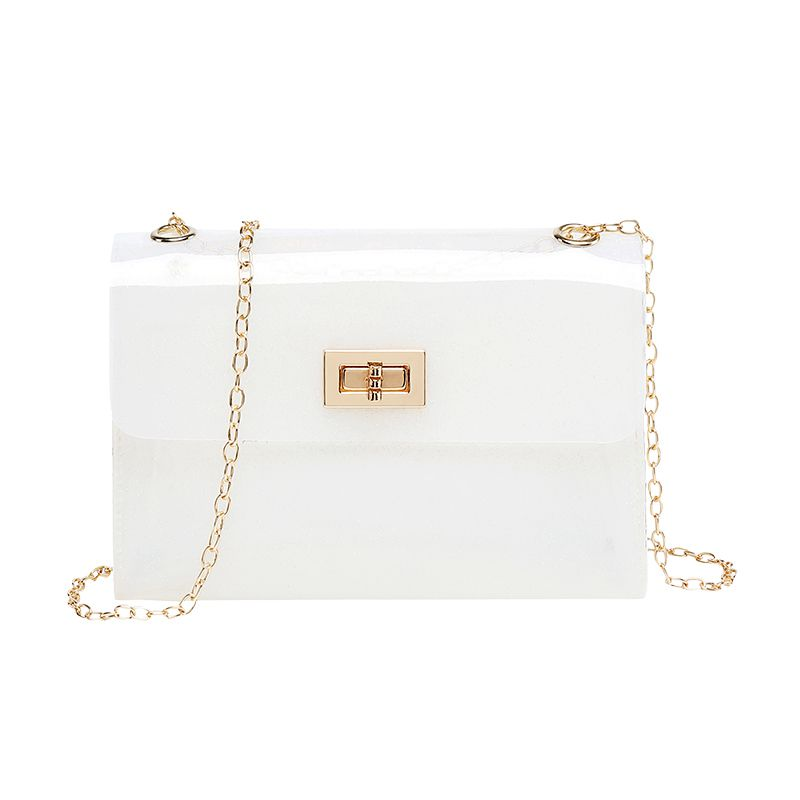 Fashion Women Bags Transparent PVC Clear Jelly Bag Tote Handbag Shoulder Bag Purse /BY