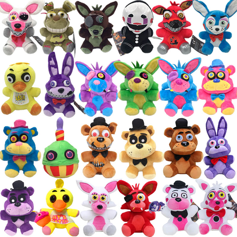18cm Fnaf Plush Five Nights At Freddy's Toy Foxy Rabbit Bonnie Chica Peluche Juguetes Nightmar Birthday Halloween Gift For Kids