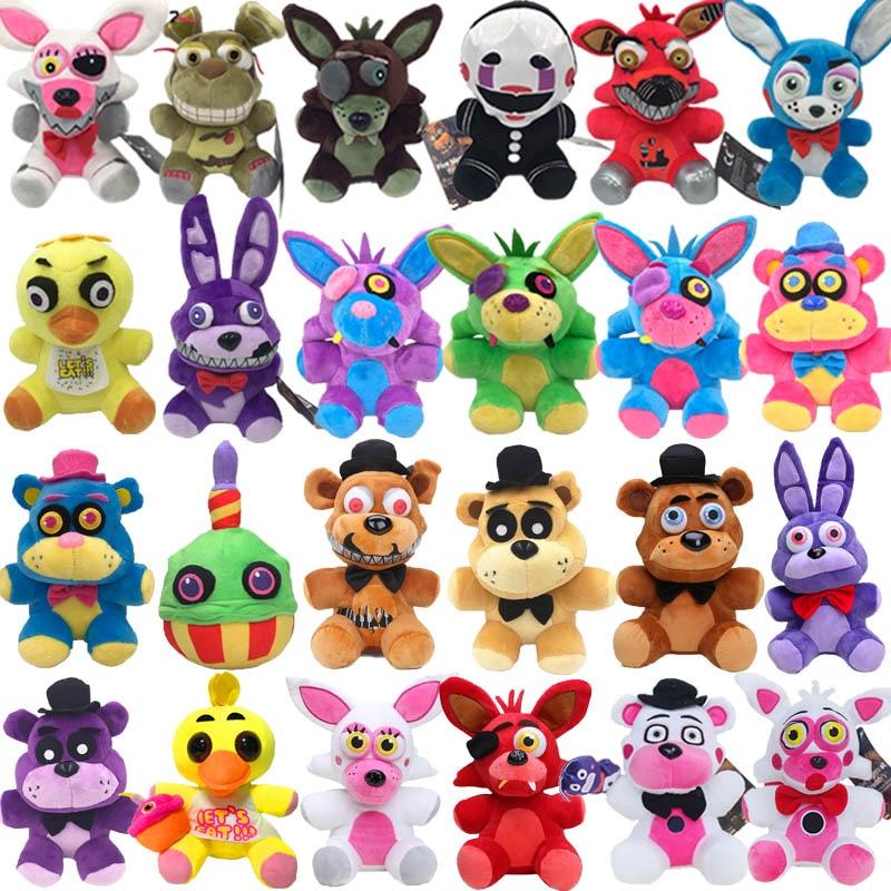 18cm Foxy Fnaf Plush Five Nights At Freddy S Toy Foxy Rabbit Bonnie Chica Peluche Juguetes Nightmar For Kids Birthday Gift Movies Tv Aliexpress