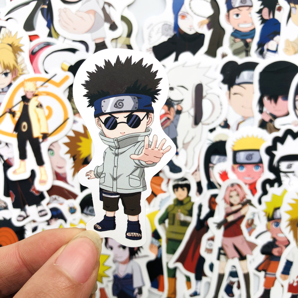 50Pcs Sticker Japan Anime Naruto Stickers Cartoon for Snowboard Laptop Luggage Fridge Car- Styling Vinyl Decal Stickers
