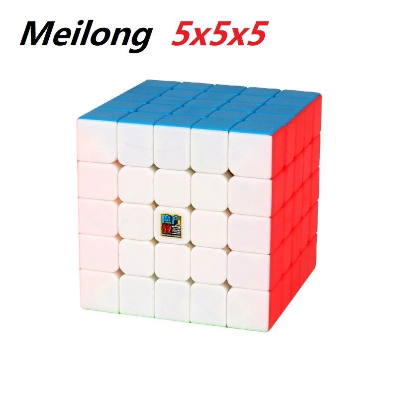 El más nuevo, juguete educativo para niños MoYu Cubing Classroom Meilong 5x5x5 5 capas, Cubo de velocidad mágica profesional 5x5 Cubo mágico sin etiqueta MoYu 3x3x3 meilong, Cubo de rompecabezas, cubos de Velocidad Profesional, juguetes educativos para estudiantes
