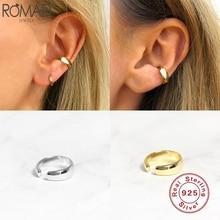 Romad 925 Sterling Silver Ear Cuff Trendy Glossy Non Piercin