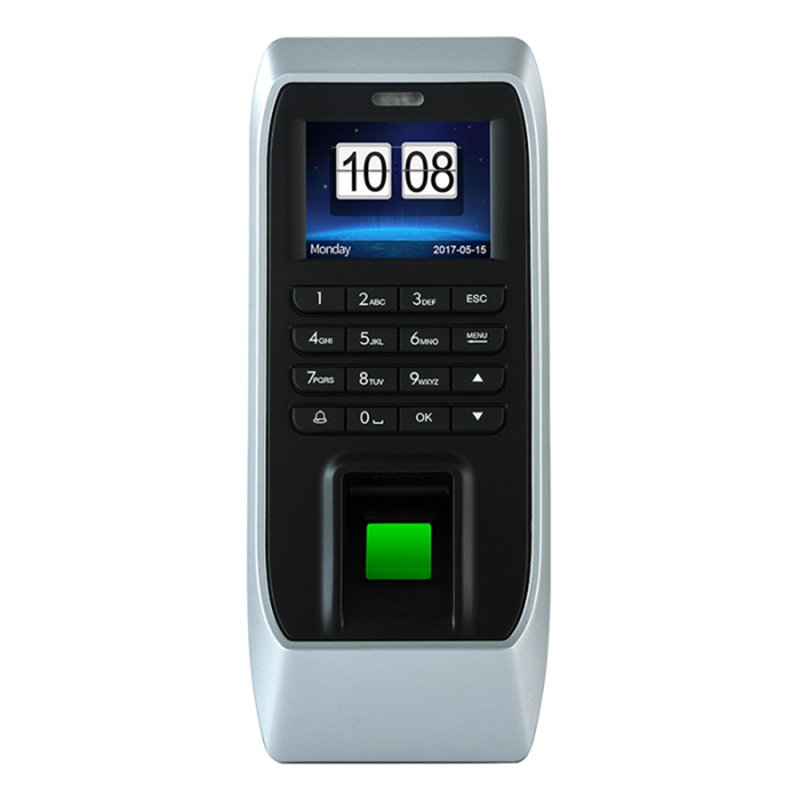 ABHU-Fingerprint Access Control Machine Attendance Access Control Machine Glass Door Password Access Control System (EU Plug)