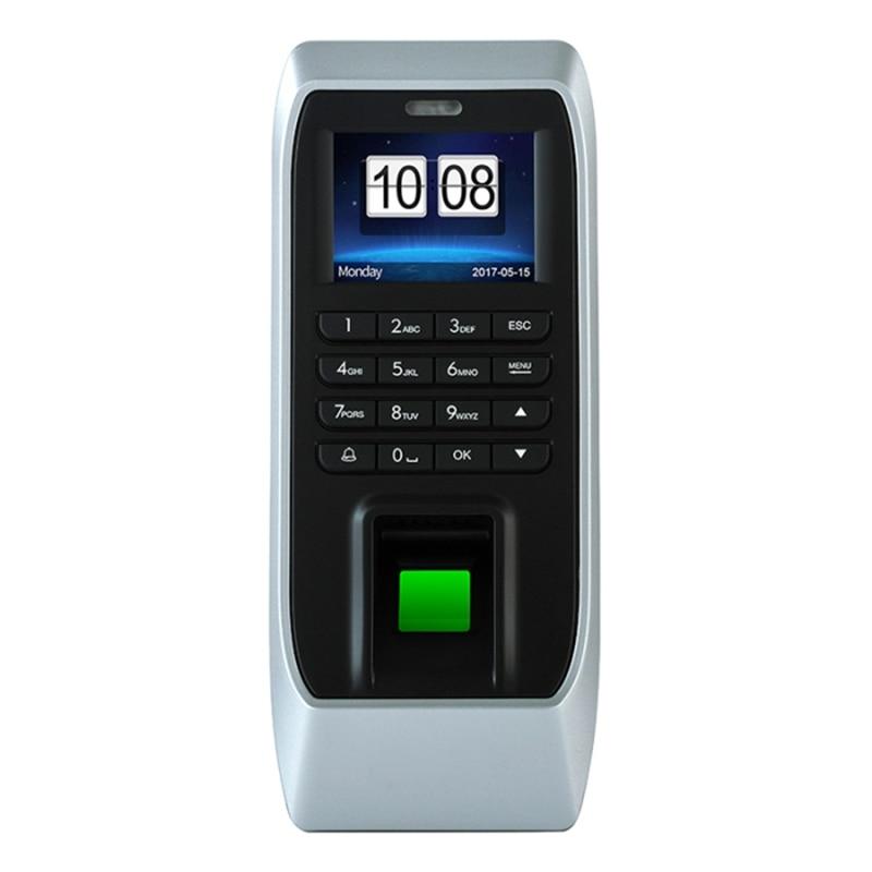 ABHU-Fingerprint Access Control Machine Attendance Access Control Machine Glass Door Password Access Control System (EU Plug)