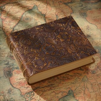 Fatto a Mano in Vera Pelle di Spessore Diario Sketchbook 400P in Bianco Libro di Carta Regalo 14 Centimetri * 19 Centimetri Trasporto Libero