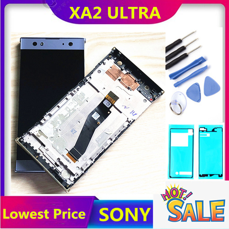ERILLES For Sony Xperia XA2 Ultra C8 LCD H4233 H4213 H3213 H3223 Display LCD Touch Screen Digitizer With Frame Assembly Parts