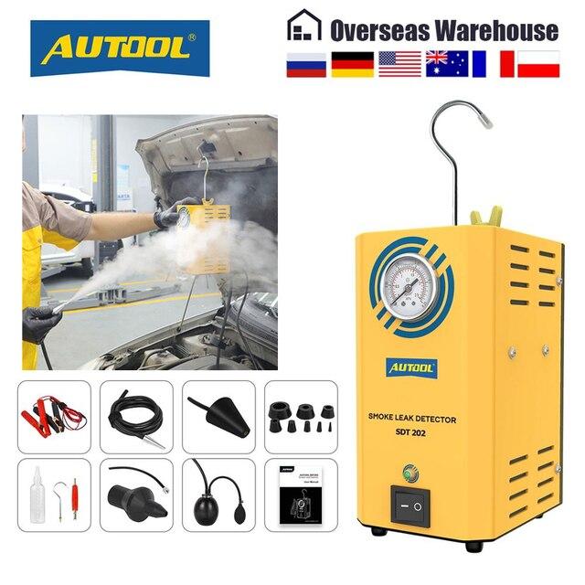 Autool sdt202 universal carro detector de vazamento fumaça evap vácuo testador diagnóstico vazamento localizador analisadores gás para automotivo