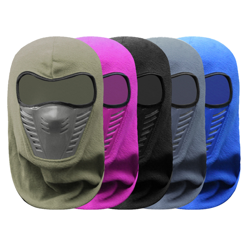 Motorcycle Mask Hat Riding Men And Women Thickened Fleece Hat Face Riding Equipment Warm Windshield Winter Hood
