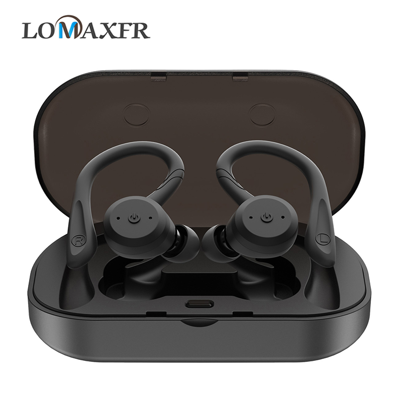 Bluetooth kopfhörer Wireless Gaming headset Noise cancelling <font><b>sport</b></font> IPX7 Wasserdichte HD stereo sound inear-kopfhörer für iphone image